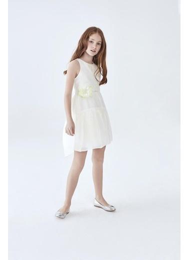 Lia Lea Kız Çocuk Beyaz Elbise Beyaz